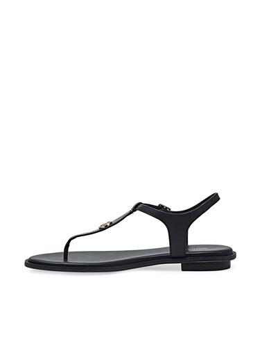 Michael Kors  Kemerli Hakiki Deri Sandalet Kadın Sandalet 40S1Mafa2L 001 Siyah